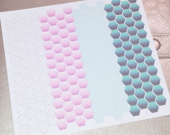 hexagon planner stickers - happy planner stickers - erin condren life planner stickers - functional stickers - hexagon stickers - planners