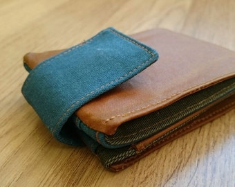 handmade wallet of waxed canvas
