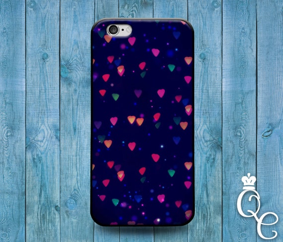iPhone 4 4s 5 5s 5c SE 6 6s 7 plus iPod Touch 4th 5th 6th Generation Cute Blue Pink Red Heart Lights Christmas Cool Phone Case Pretty Cover