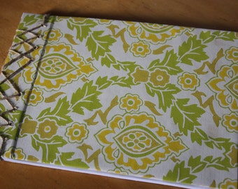 Reclaimed Retro Wallpaper Hand Bound A4 Sketch Book