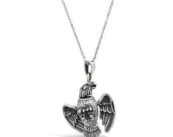 Bird Pendant Necklace - Silver Bird Pendant - Silver Bird Charm - Pendant for Him - Bird Lover Gift - Eagle Pendant - Pendant Necklace