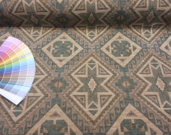 "Aztec Tribal Reversible Heavy Upholstery 59"" Fabric  By the Yard"