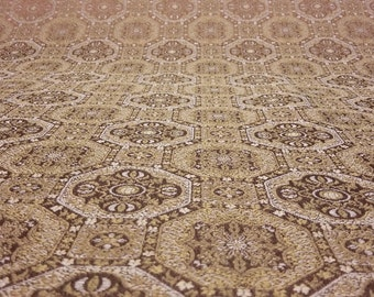 """Gold West port Polyester Persian rug look Jacquard Fabric 57"""" by the yard"""