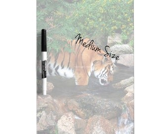 Dry Erase Board w/ Marker, Drinking Tiger, 3 Sizes Available!