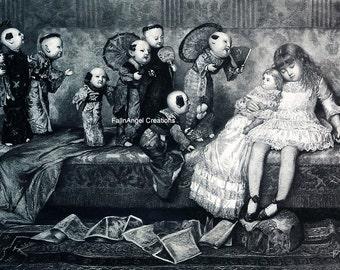 "Victorian Art Print ""Dreamland"""