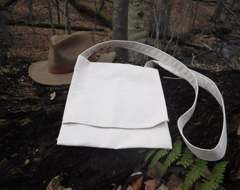 Traditional 18th / 19th Century Canvas Haversack Possibles Bag