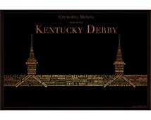 Derby Winners inSpired Canvas - Kentucky Derby Winner Typography - Multiple Sizes/Colors
