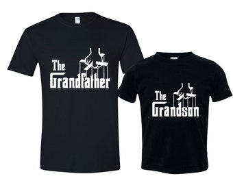 The Grandfather Shirt and The Grandson shirt, Matching Grandfather Grandson T-shirts  Grandpa Gift Set of 2 Grandparent Gift