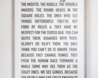 Steve Jobs - Here's to the crazy ones - Home Decor