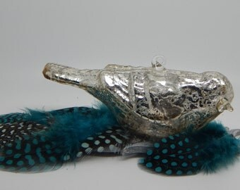 Silver Bird and Feathers