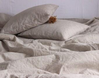 100% Duvet Cover, Natural Organic Bedding, Twin Full Queen King California size Duvet Comforter Cover Natural Linen Color Organic Bedding