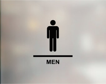 men women restroom decals bathroom sign restaurant shop retail sticker restroom decals