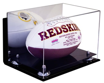 Football Display Case with Wall Mount