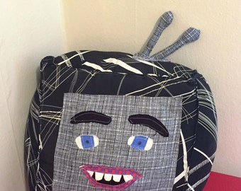 Stuffed Fabric Television with Face
