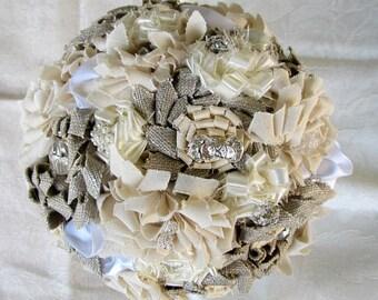 Barn wedding bouquets, Rustic wedding bouquets, Country wedding bouquets, Fabric flowers bouquets, Wedding bouquets, Bridal bouquets,