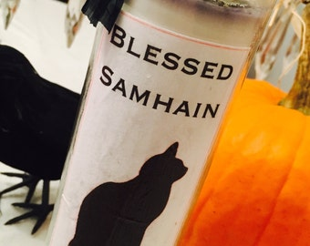 Samhain Candle | Halloween Candles | Novena Style Candle | Black Cat Candle | Patchouli Candle | Handmade Pillar Candles | Spell Candle