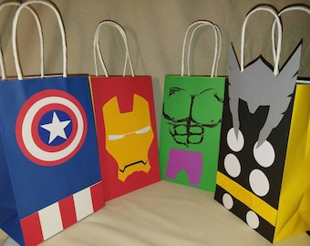 Half a dozen Super Hero Goodie Bags