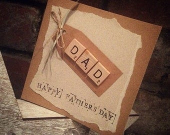 Now with 20% iff Personalised handmade fathers day card