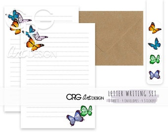 Butterfly Letter Writing Set | Snailmail Penpals Stationery
