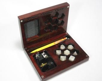 The Player's Vault V2, Accessory Holder, Dice, Dice Box, Dice Case, Dice Tray, DND, D20, Dungeons and Dragons, RPG, Pathfinder, Miniatures