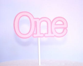 1st Birthday ONE Cake Topper Pink