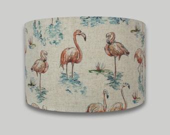 Florida Flamingo Drum Lampshade Lightshade 20cm 25cm 30cm 35cm 40cm sizes available
