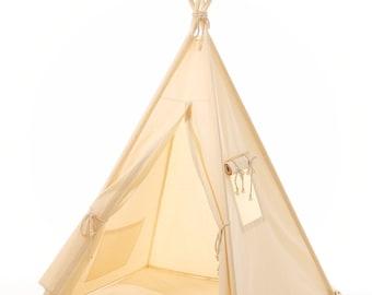 Kids teepee play tent + pillow wigwam , children's teepee, playtent, tipi, wigwam, kids teepee, tent, play teepee, high quality wigwam