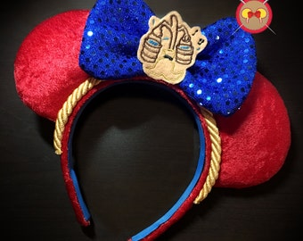 Sorcerer's Apprentice Inspired Mickey Ear Headband with Magic Broom Feltie