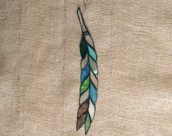 Stained Glass Feather