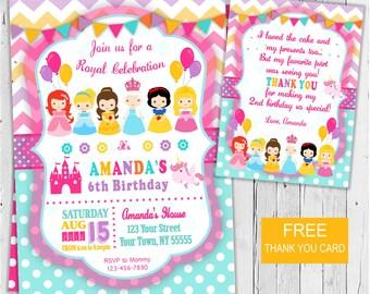 Princess  Invitation / Printable Princess invitation / Princess  Invite / Princess Party / Printable