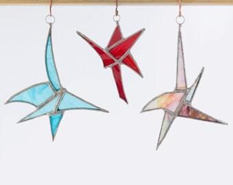 Stained glass Star lightcatcher/ suncatcher/ window decoration