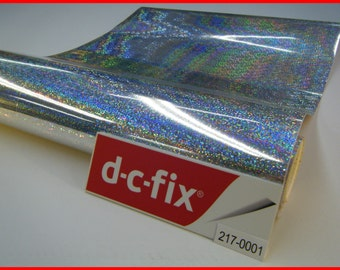 Glitter Contact Paper DC FIX  Silver Shiny Glitter Effect Gloss 1m x 45cm Design Sticky Back Self Adhesive Material Vinylr 217-0001