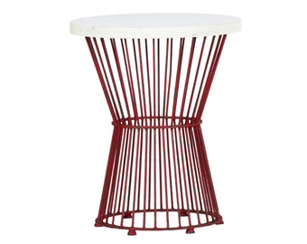 Support of marble and iron table