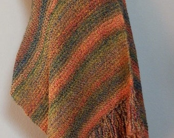 Harvest Knit Shawl/Prayer Shawl