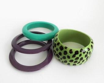 Set of Vintage Plastic Bracelets, Jewerly, Woman, Bangles, Vintage Bangles,  Womens Bracelets, Plastic Bangles,Plastic Bracelets