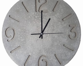 Large Concrete Wall Clock (400mm 19 inches)