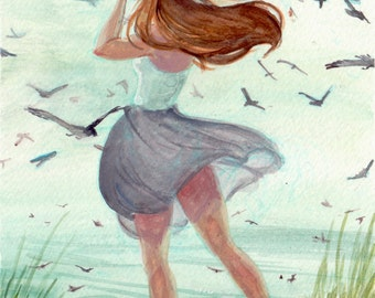 Petrel Girl Mini Print