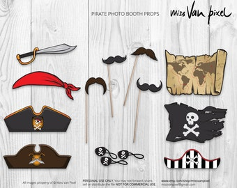 Pirate Party Photo Booth Props Printable Pack
