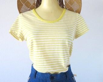 Vintage 1970's Yellow Striped Tee