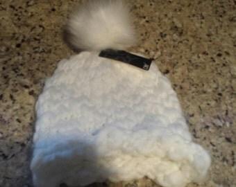 White Pom Hat