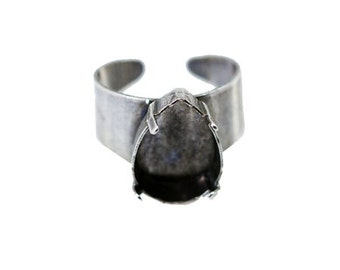 Ring Bases Pear Shape 13x18 mm