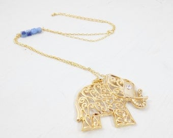 Valentines Sale Elephant Necklace with free shipping