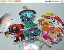 ON SALE Paw Patrol Centerpiece, Paw Patrol Centerpiece Digital, Paw Patrol Instant download, Paw Patrol birthday decorations
