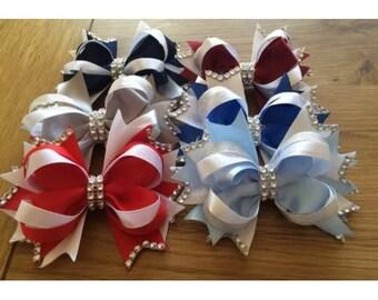 "Handmade 4"" hair bow accesories"