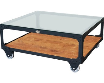 Industrial Coffee Table - Factory Cart Coffee Table