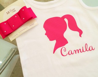Personalized name tshirt for babies and girls