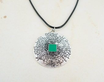 The Maze Runner Inspired Labyrinth Pendant Necklace