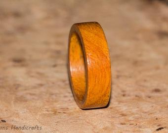 Osage Orange Wood Ring -  Mens Womens Custom Hand Carved Wedding Engagement Band Multiple Size