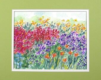 SALE, Abstract Watercolor, Original Watercolor, Meadow Watercolor, Original Painting