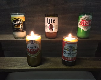 2 Pack - Custom Made To Order Beer Bottle Candles - Hand Made - Pick Your Bottles, Pick Your Scent - Beer Bottle Candle